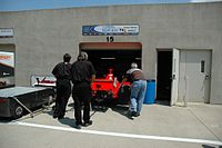 Jones' 2007 Indy 500 entry rests in the garage