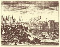 The Ottoman army battling the Habsburgs in present-day Slovenia during the Great Turkish War.