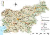 A topographic map of Slovenia