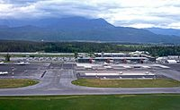 The Ljubljana Jože Pučnik Airport is the biggest international airport in the country
