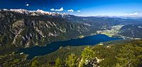 Lake Bohinj, largest Slovenian lake, one of the two springs of the Sava River