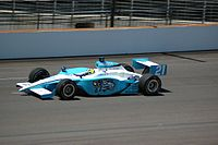 A Panoz GF09 Indycar Series chassis driven by Jaques Lazier during practice for the 2007 Indianapolis 500.