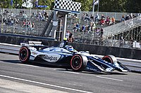 Max Chilton during practice for the 2018 Grand Prix of Portland.