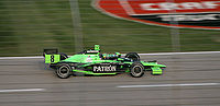 Dallara IR05 Indycar chassis driven by Scott Sharp at the 2007 Bombardier Learjet 550 at Texas Motor Speedway.