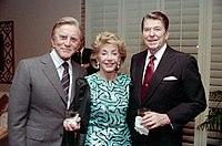 Douglas, his wife Anne, and President Ronald Reagan, December 1987