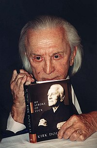 Douglas in 2002 with his book My Stroke of Luck