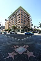 Douglas's star is located at the famous Hollywood and Vine intersection.