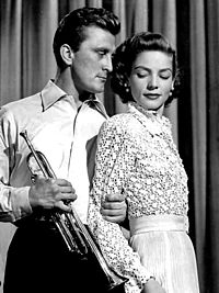 Douglas and Lauren Bacall in Young Man with a Horn (1950)