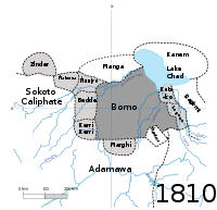 The Kanem and Bornu Empires in 1810