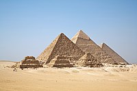 The pyramids of Giza, symbols of the civilization of ancient Egypt