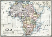 1916 political map of Africa