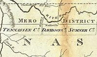 The Mero District, as it appeared on Bradley's 1796 postal map