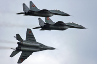 Mikoyan MiG-29 jet fighters of the Bulgarian Air Force