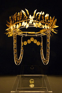 Odrysian golden wreath in the National History Museum