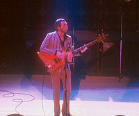 John Entwistle performing with the Who at the Manchester Apollo, 1981