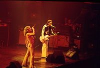 Daltrey and Townshend, 21 October 1976, Maple Leaf Gardens, Toronto, Ontario their last public gig with Moon