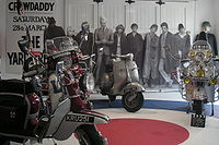The Who's aesthetic grew out of mod subculture with its high fashion, scooters for transport, and shaggy hairstyles.