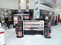 Revlon counter in New Zealand department store Farmers