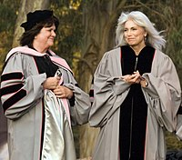 Ronstadt and Emmylou Harris receiving honors from Berklee, 2009