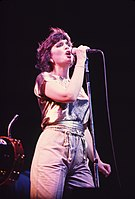 Linda Ronstadt at Six Flags Over Texas, August 1981.