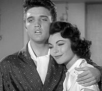 Presley and costar Judy Tyler in the trailer for Jailhouse Rock, released October 1957