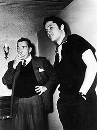 Ed Sullivan and Presley during rehearsals for his second appearance on The Ed Sullivan Show, October 26, 1956