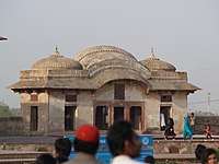 """The Sikh-era Sehdari, or """"Three-doored pavilion"""" served as an office for Faqir Syed Noor-ud-din, a trusted Governor of Ranjit Singh."""