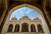 """Lahore's Moti Masjid is earliest of three Mughal """"Pearl Mosques."""" The two others are the one in Agra and the other in Delhi."""