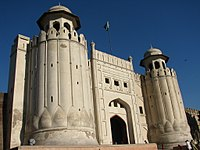 The fort's iconic Alamgiri Gate was built during the reign of Emperor Aurangzeb.