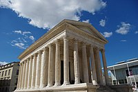 The Maison Carrée was a temple of the Gallo-Roman city of Nemausus (present-day Nîmes) and is one of the best-preserved vestiges of the Roman Empire.