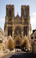 Notre-Dame de Reims is the Roman Catholic cathedral where the Kings of France were crowned until 1825.