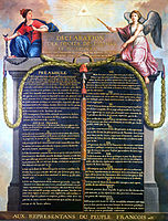The basic principles that the French Republic must respect are found in the 1789 Declaration of the Rights of Man and of the Citizen.
