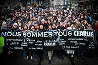 Republican marches were organised across France after the January 2015 attacks perpetrated by Islamist terrorists; they became the largest public rallies in French history.
