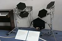 Neil Peart began incorporating Simmons Electronic Drums beginning with Grace Under Pressure, 1984