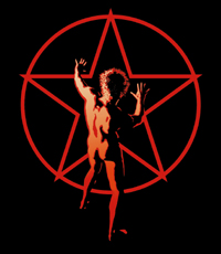 """The """"starman"""" logo, created by Hugh Syme, first appeared on the back cover of 2112."""