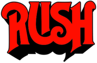 The first Rush logo, as seen on their debut album