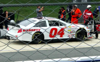 Bassett on pit road at Dover in 2018