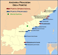 Map of seaports in Andhra Pradesh (click on the image for maximum view)