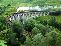 The Glenfinnan Viaduct in Scotland (which the Hogwarts Express passes en route to Hogwarts), features in four films in the series, including the Dementor scene in Prisoner of Azkaban