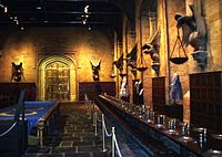 The studio film set of The Great Hall of Hogwarts was one of the first sets ever created for the series.
