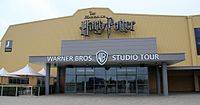 Warner Bros. Studios, Leavesden, where much of the film series was shot. Harry Potter was also filmed in other areas, including Pinewood Studios.