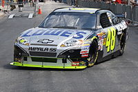 Jimmie Johnson won the pole position, after having a fastest time of 23.116 seconds.