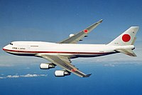 The Japan Air Self-Defense Force operated two Boeing 747-400s as the Japanese Air Force One from 1993 to 2019, when both were replaced with Boeing 777-300ERs.