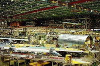 747 final assembly at the Boeing Everett Factory