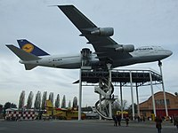 Boeing 747-230B in Lufthansa livery on display at the Technikmuseum Speyer in Germany