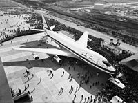 The prototype 747 was first displayed to the public on September 30, 1968.