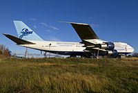 Boeing 747-212B serving as the Jumbo Stay at Arlanda Airport, Sweden