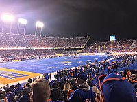 The Boise State Broncos are the first football team to design a blue field in 1986