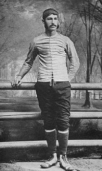 """A photograph of Walter Camp, the """"Father of American Football"""", taken in 1878 when Camp was captain of Yale's football team"""
