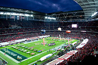 Opening ceremony of the 2010 NFL International Series at London's Wembley Stadium